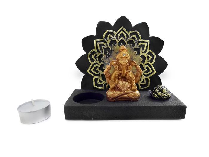 Ganesha Incensário Portal e Porta Vela