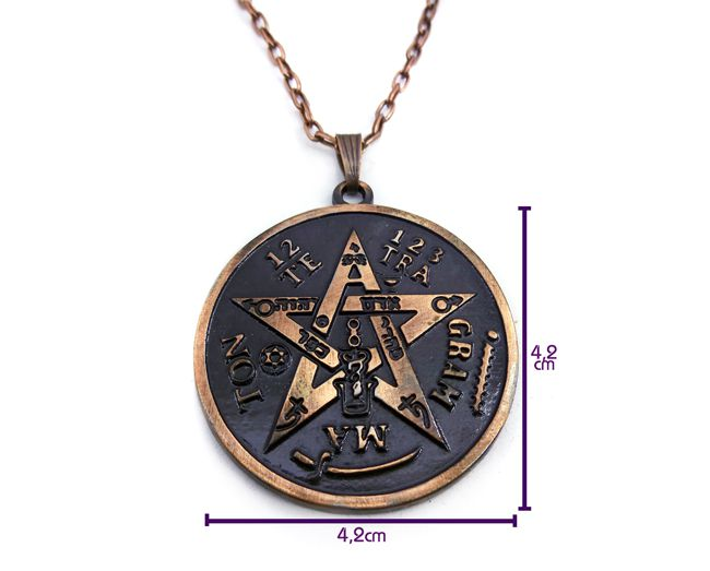 KIt 11 Pças - Colar Tetragrammaton Amuleto 4 cm