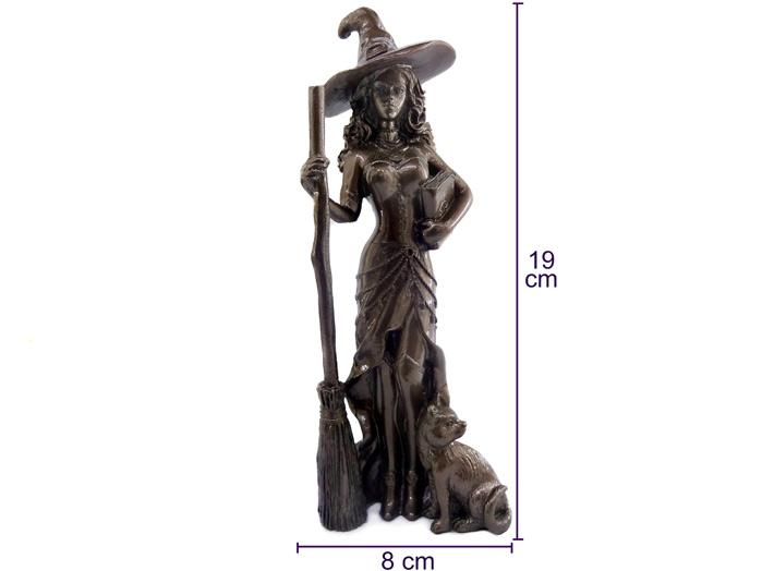 Estátua Bruxa + Pantaculo Pentagrama + Punhal