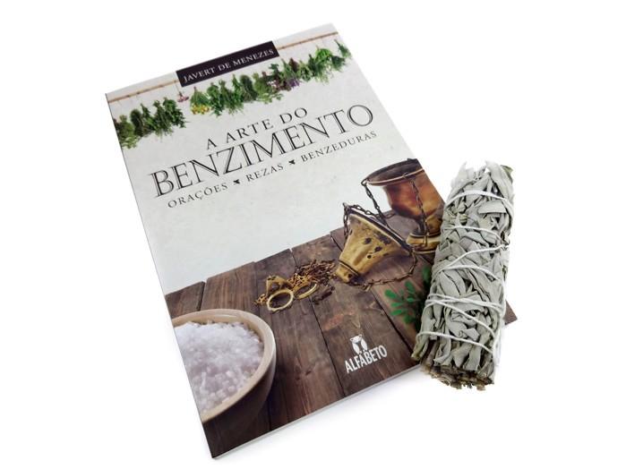 Livro Arte do Benzimento Orações Rezas Benzeduras + Salvia Branca