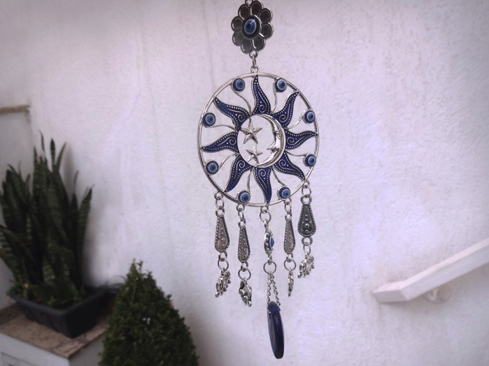 Mandala Sol Lua Estrela Olho Grego