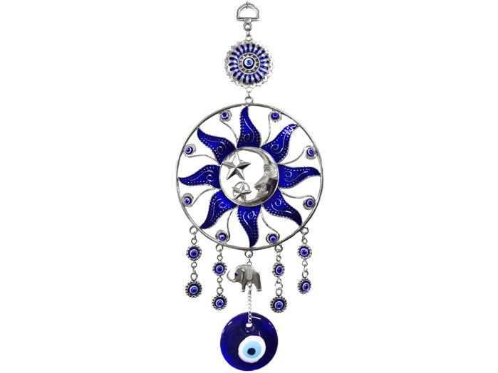 Mandala Talismã Olho Grego Sol e Lua
