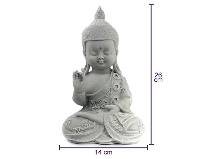 Monge Buda Meditação Pó de Marmore