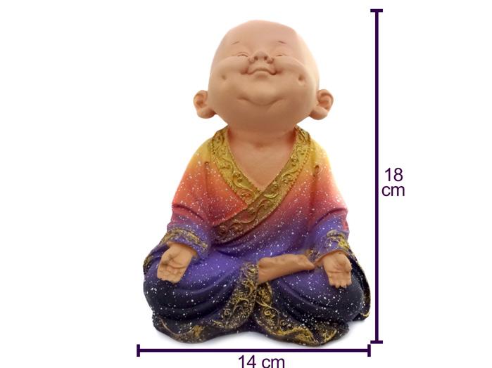Monge Buda Sorrindo Colorido