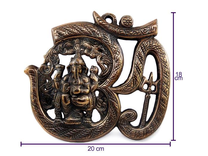 Om Ganesha Enfeite de Parede 18 cm