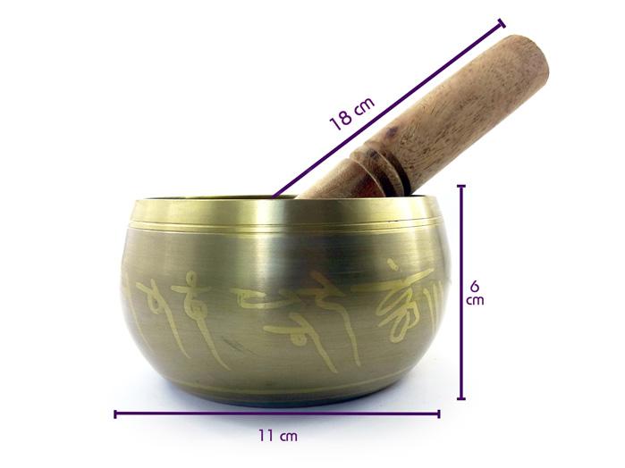 Orin Sino Tigela Tibetana Cinza 11 cm