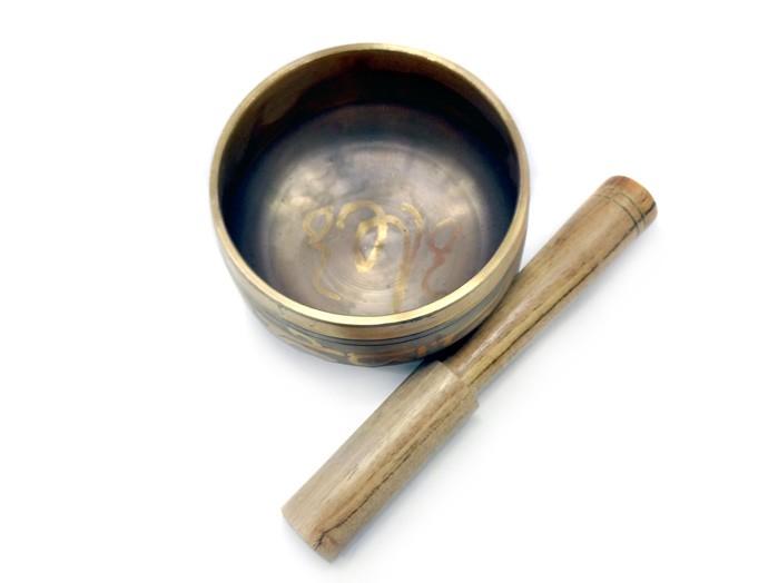Orin Tigela Sino Tibetana  7 Metais Sagrados 8 cm Cinza