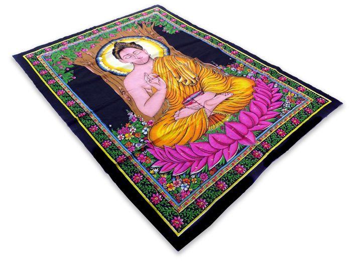 Panô Indiano Estampado Buda Meditando
