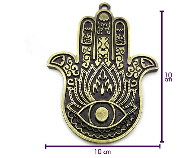 Pantáculo Hamsá Mão de Fátima 10x8cm