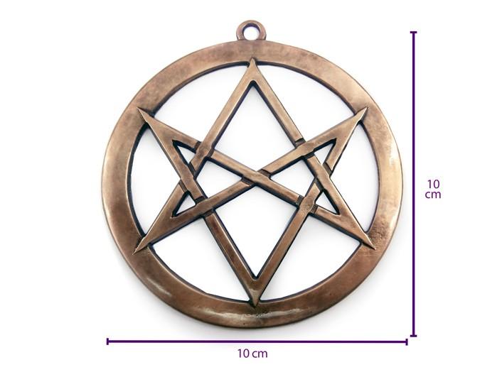 Pantaculo Hexagrama Unicursal Crowley Lei Thèlema 10 cm