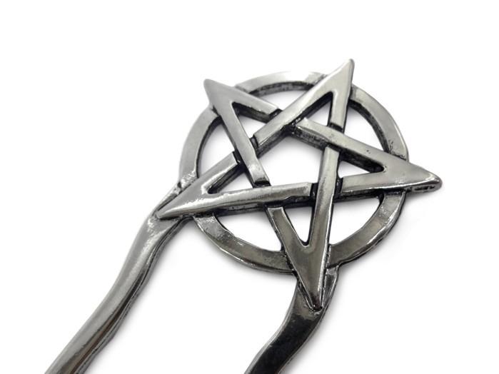 Prendedor de Cabelo Pentagrama