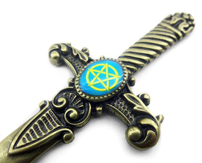 Athame Pentagrama - Azul - Punhal