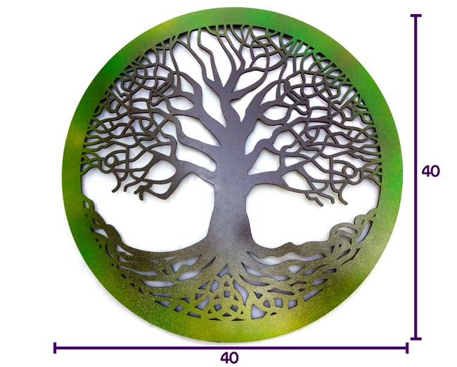 Quadro Árvore Da Vida Celta  40x40 cm MDF