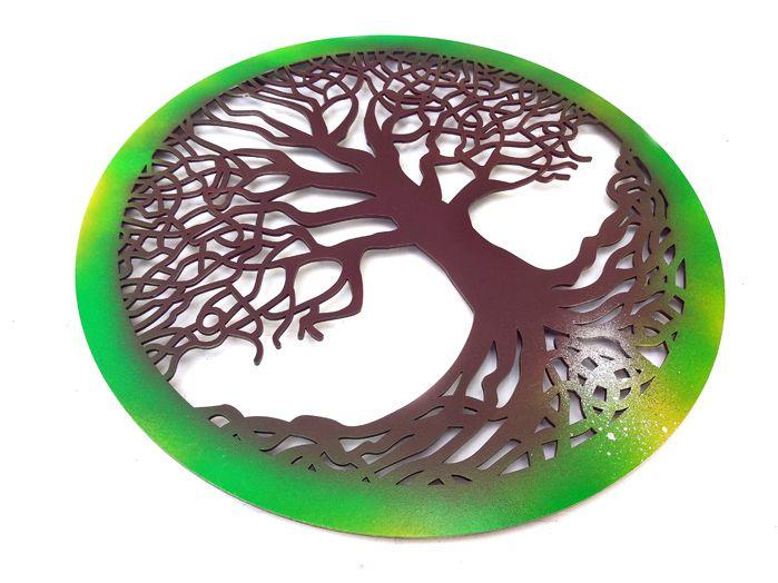 Quadro Árvore Da Vida Celta  40 x 40cm MDF