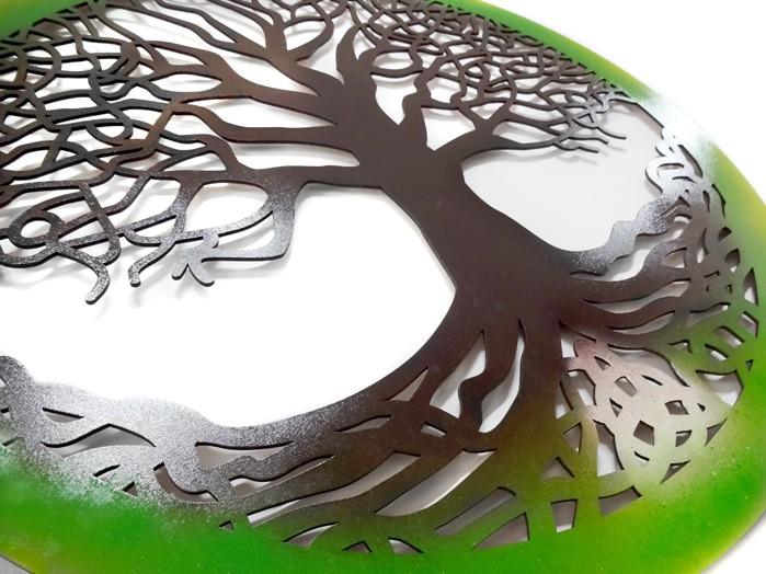 Quadro Árvore Da Vida Celta  65 x 65cm MDF