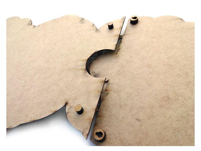 Quadro 7 Chakras Principais - 1,80 X 26 cm Mdf