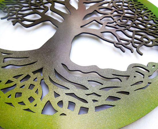 Quadro Árvore Da Vida Celta - 40x40cm MDF