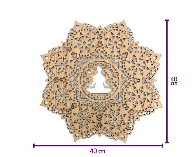 Quadro Posição Yoga - Texturizado 40x40 cm MDF