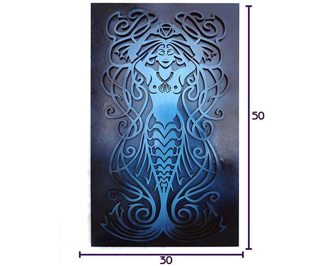 Quadro Elemento Primordial Água 50 x 30 cm MDF