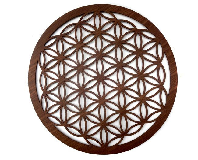 Quadro Mandala Geometria Flor da Vida  40 x 40 cm MDF