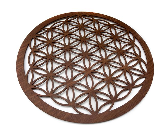 Mandala Geometria Sagrada - 40 x 40 cm - MDF