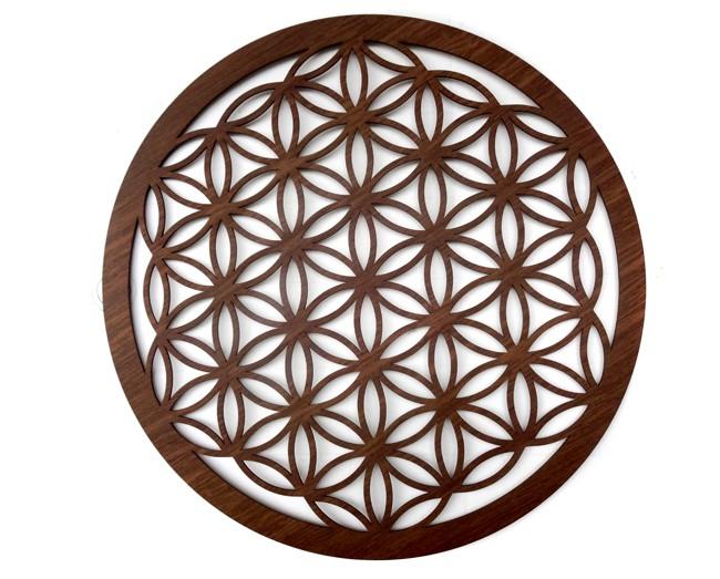 Quadro Flor da Vida Geometria Sagrada 50 x 50 cm MDF