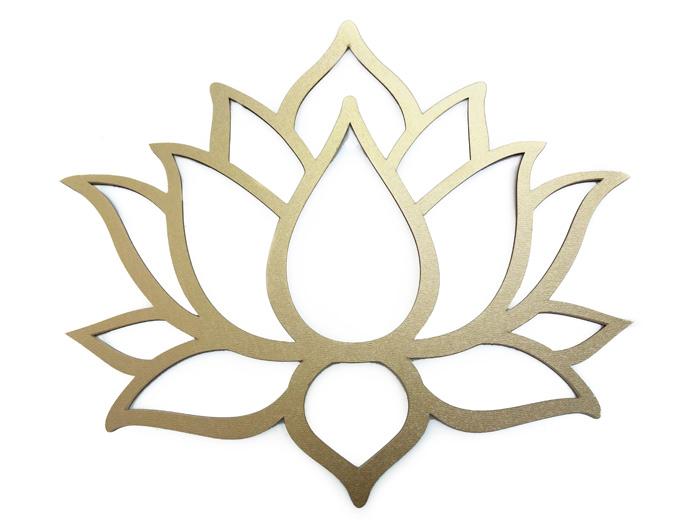 Quadro Flor de Lotus em MDF  30 x 26 cm