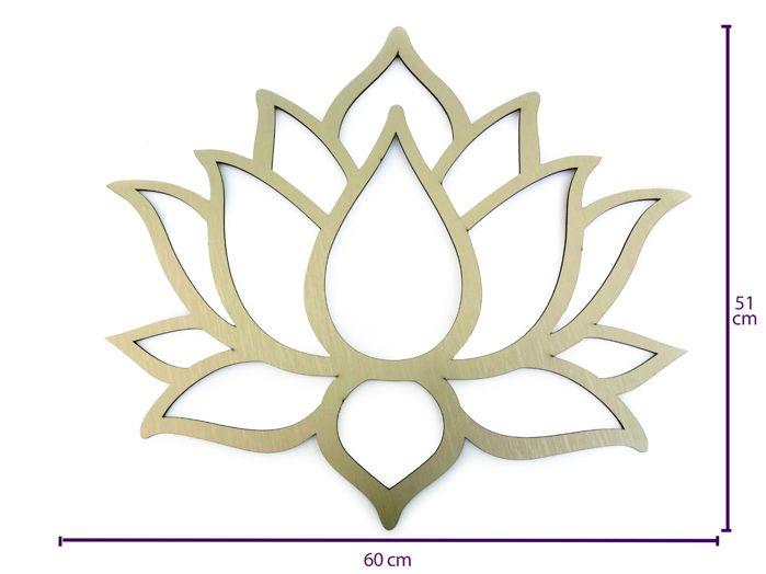 Quadro Flor de Lotus em MDF Texturizada