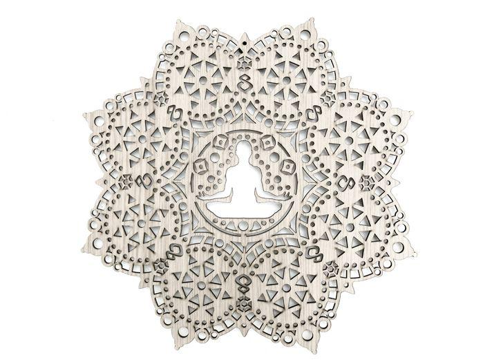 Quadro Posição Yoga Texturizado 40x40 cm MDF