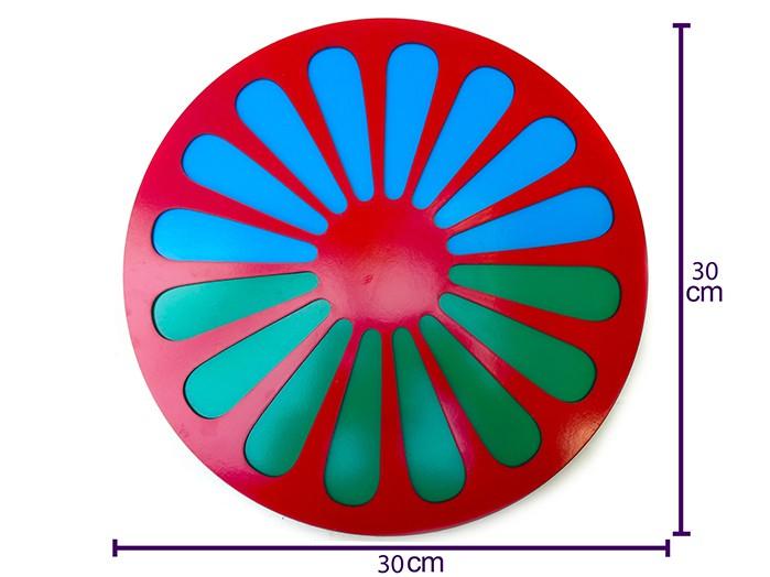 Quadro Roda Cigana em MDF Texturizado 30 x 30