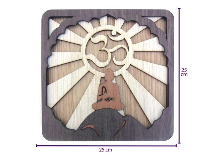 Quadro Simbolo Om Meditação 25 x 25
