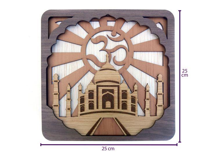 Quadro Templo Taj Mahal Om 25 x 25