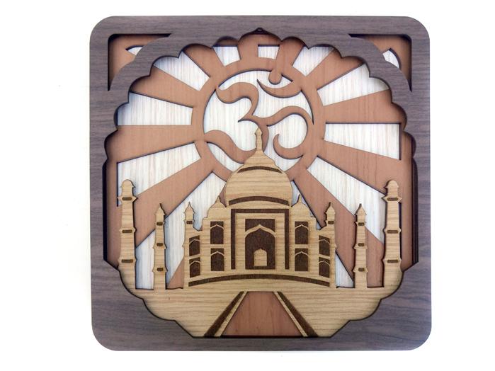 Quadro Templo Taj Mahal Om 25x25