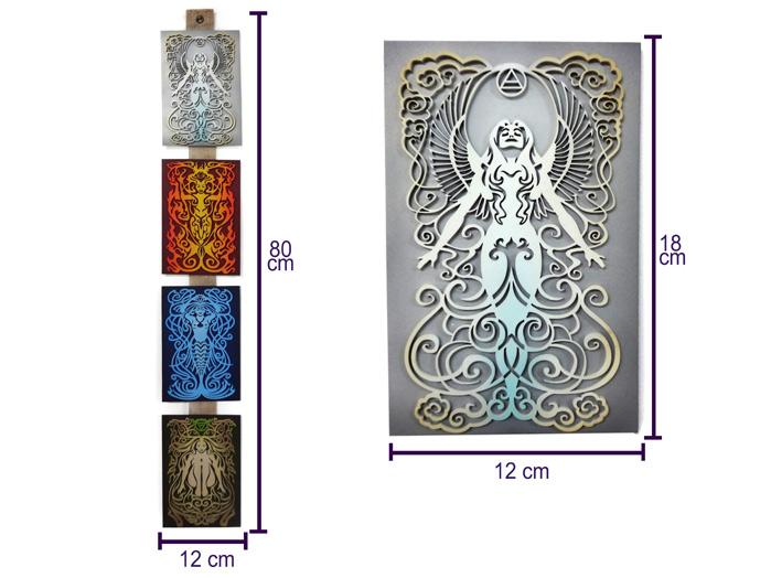 Quadros 4 Elementos da Natureza 18 cm MDF