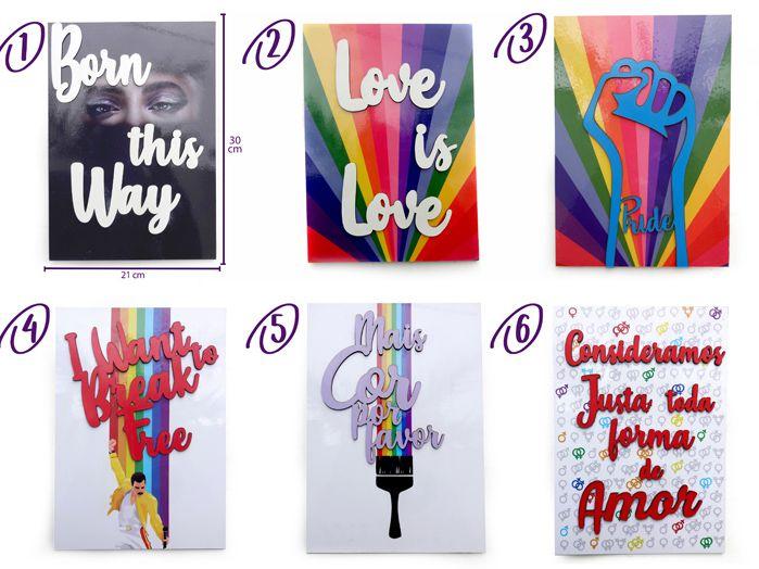 Quadros Pride Orgulho LGBT