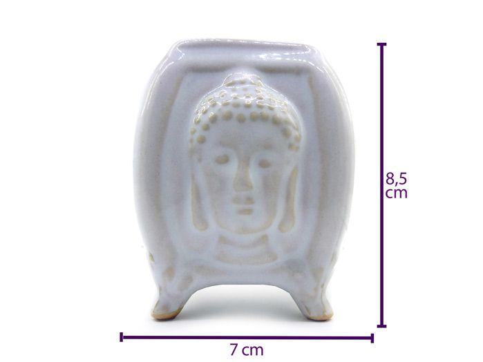 Recho De Ambiente Em Cerâmica Buda Branco 8 cm