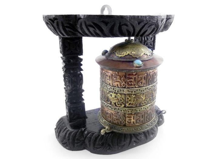 Roda De Oração Tibetana  Com Base