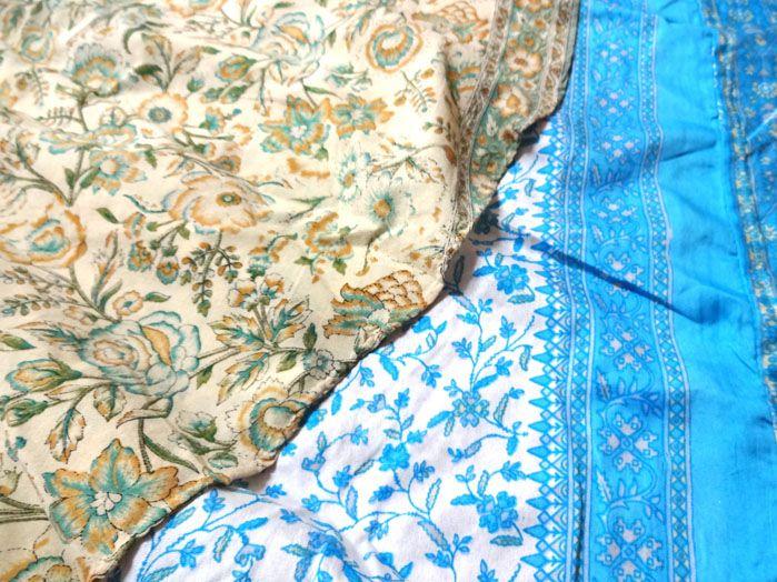 Saia Indiana Multiuso - Dupla Face Azul/Bege