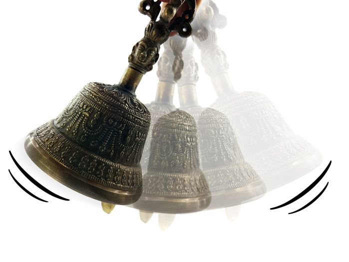 Sino Gantha Tibetano - Bronze Médio 13 x 8 cm