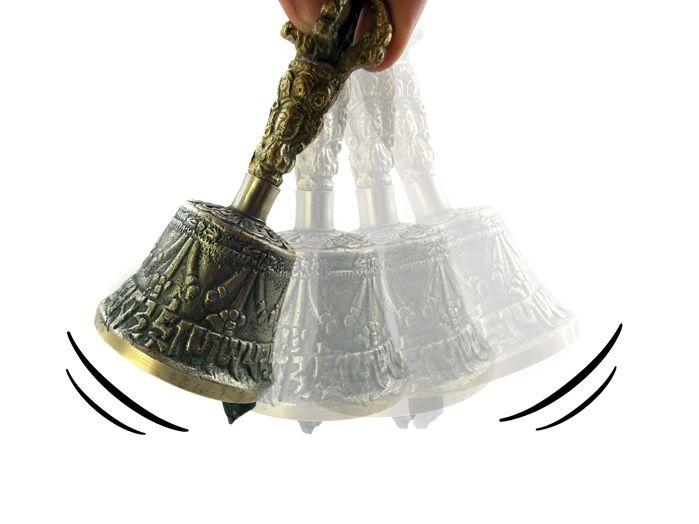 Sino Gantha Tibetano - Pequeno 12 x 5 cm