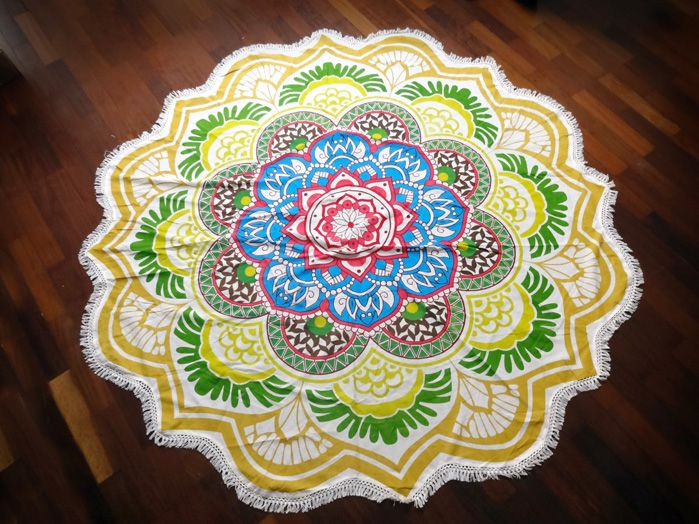Canga Indiana Mandala - Flor Amarela