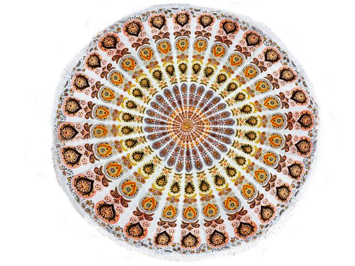 Tapete Canga Meditação Laranja e Amarelo