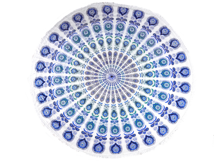 Tapete Canga Meditação Redondo 198 x 198cm