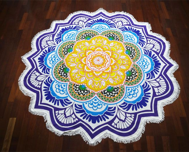 Tapete Canga Meditação Mandala