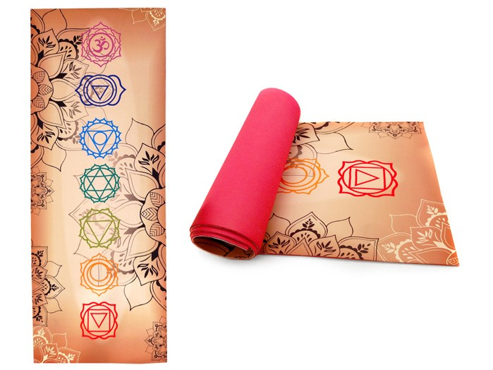 Tapete Yoga e Exercícios Eva e Tecido de Malha em Poliester
