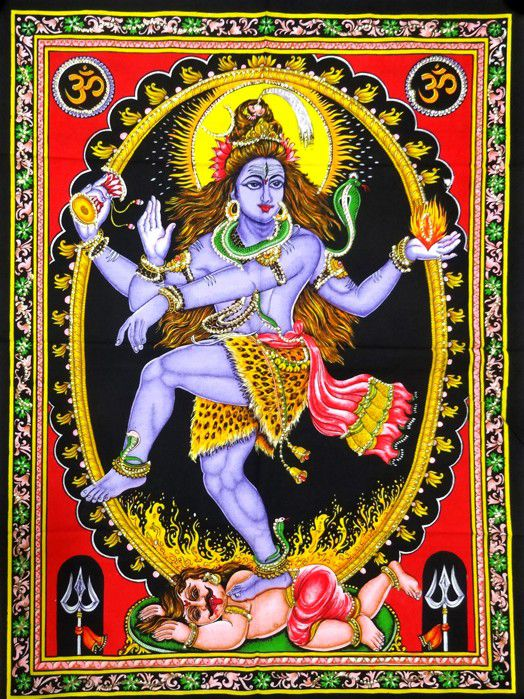 Tecido Panô Decoração Indiana Shiva Nataraja