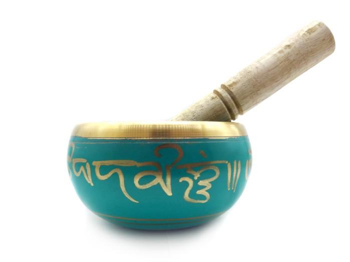Tigela Sino Cantante Tibetano Verde 11 cm Almofada de Brinde