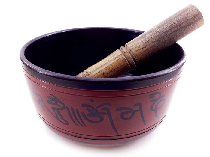 Tigela Tibetana 7 Metais Sagrados 16 x 8 cm