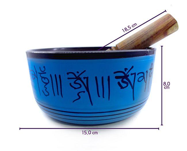 Sino Tibetano Orin 7 Metais Sagrados - 15x8 Cm Azul