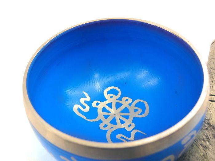 Tigela Sonora Tibetana - Azul 8 cm